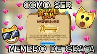 COMO SER MEMBRO DE GRAÇA NO ANIMAL JAM!!!!!