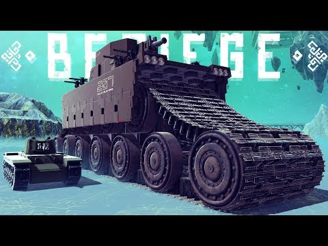 The Worlds Largest Tank - Destroying Big Ben - Besiege Best Creations