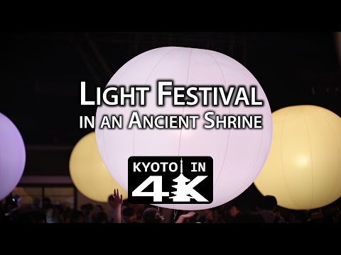 Kyoto Event: Light Festival at Shimogamo Shrine (Tadasu no Mori) [4K]