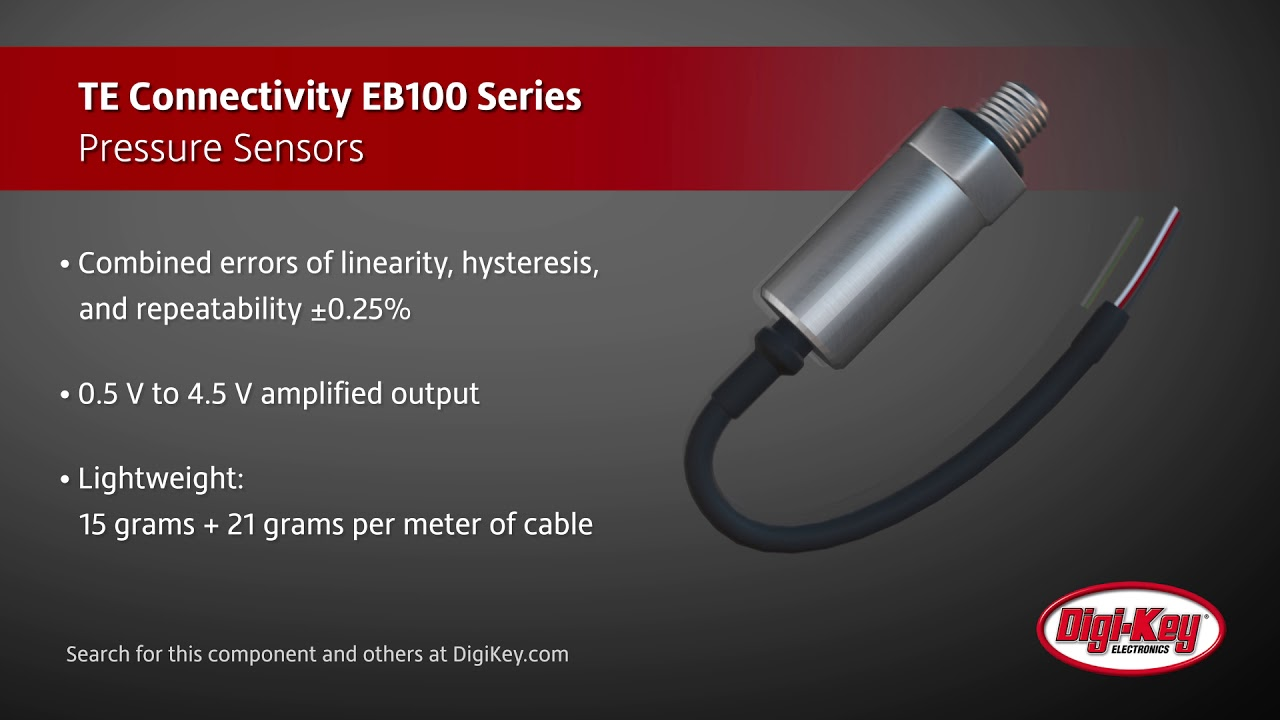 Te Connectivity Eb100 Series Pressure Sensor Youtube