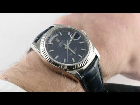 Rolex Oyster Perpetual Day-Date 118139 Luxury Watch Review