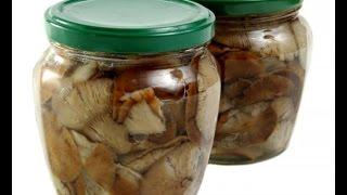 Маринованные грибы на зиму. Очень вкусно.