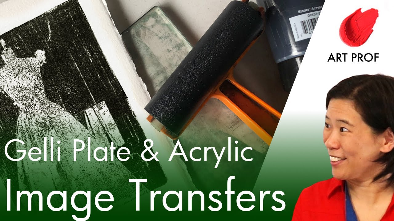 Acrylic Image Transfers with Gelli Plates #shorts #youtubeshorts
