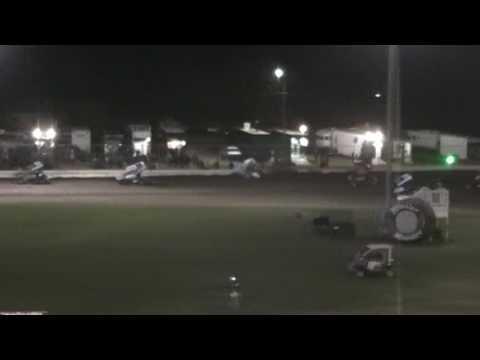 Civil War Sprint Car Crash @ Ocean Speedway 7/15/16