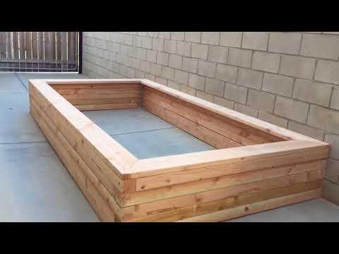 My raised wooden koi pond construction part 2
