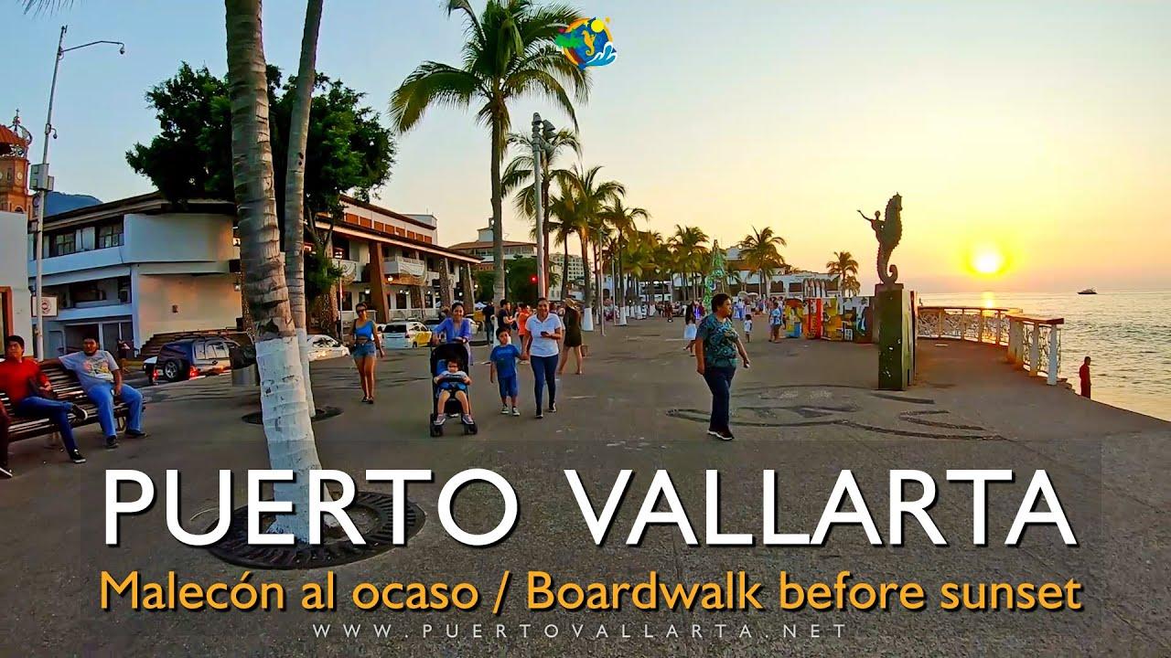 Paseo Malecón de Puerto Vallarta al ocaso 😍 (06/12/2019) Puerto Vallarta Boardwalk before sunset