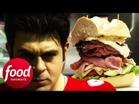 Adam Takes On The 2.5 LB Dagwood Sandwich In Ohio   Man V Food