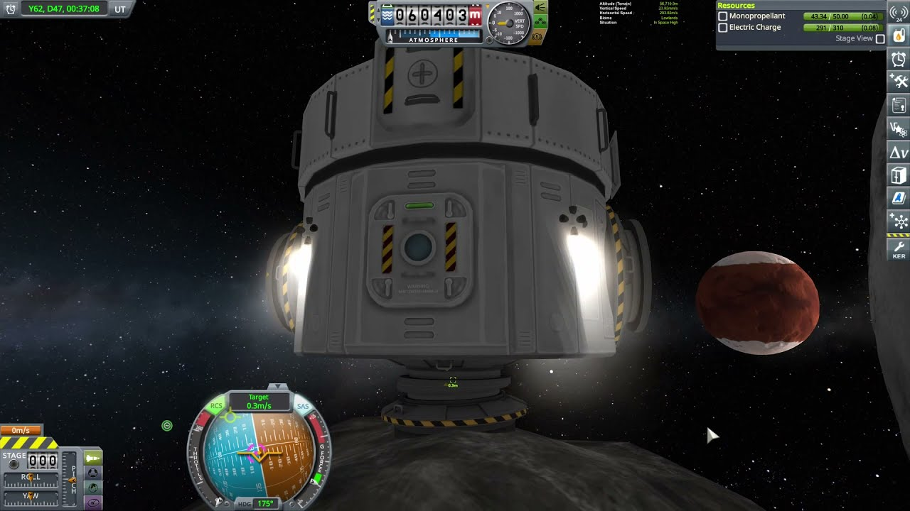 Download Building a space station around an asteroid over Duna [KSP 1.12]