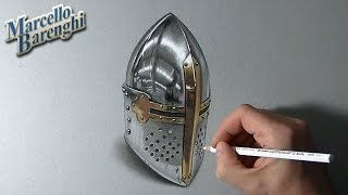 How to draw a medieval helm