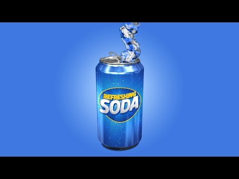 Photoshop Tutorial | Product Packaging Design | 3D Soda Can