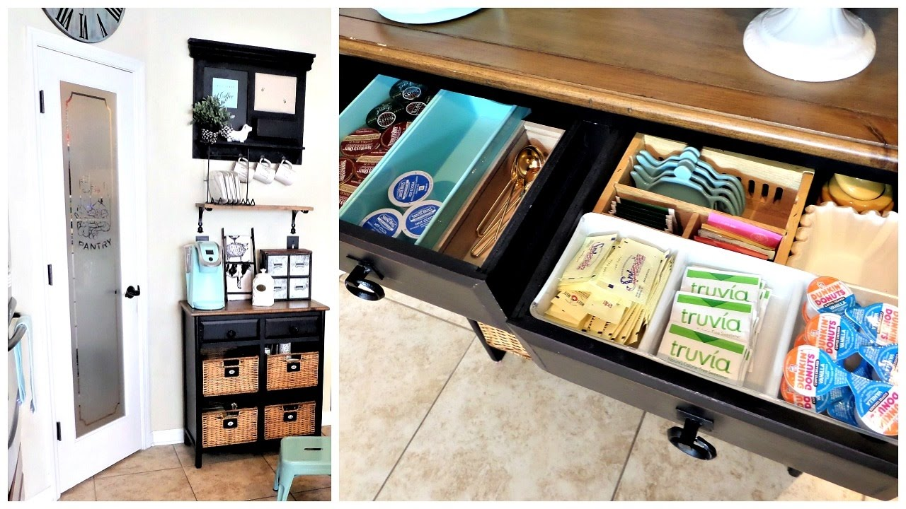 Tiny Craftsman Comes With Espresso Station: Farmhouse Inspired Coffee Station For Small