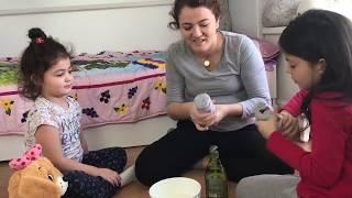 MASAL VE ÖYKÜ KÖPÜK DENEYİ YAPTI DEVASA KÖPÜKLER - Funny Kids Videos