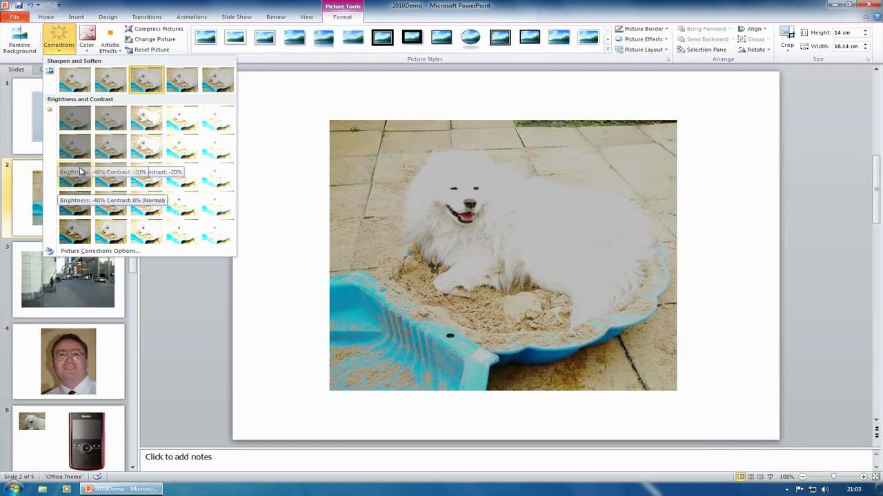 Microsoft Office 2010 - PowerPoint - Photo and Video Editing - YouTube
