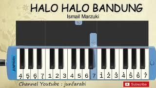 Gambar cover not pianika halo bandung - belajar pianika