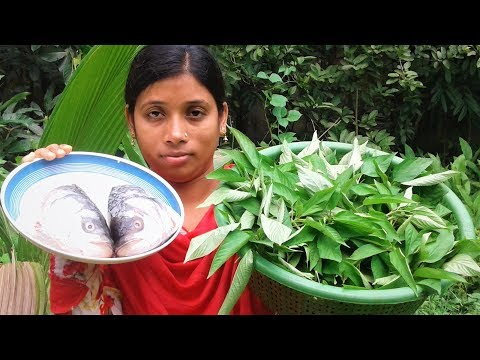 Farm Fresh Jute Leaf & Fish Head Recipe | Village Style Cooking By Street Village Food