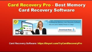 Best Memory Card Recovery Software - Card Recovery Pro Review