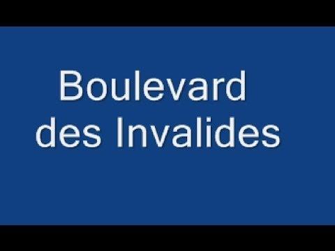 Boulevard des      Invalides Paris Arrondissement 7e