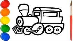 Wie zeichnet man einen Zug | Malvorlagen Train for Kids ausmalbilder