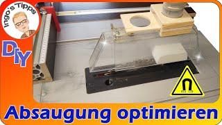 Absaugung an der Tischkreissäge optimieren Schnellbefestigung am Spaltkeil DIY  | IngosTipps