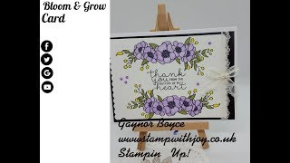Bloom & Grow Card Stampin' Up! New 2019