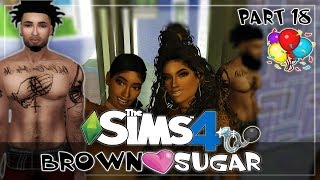Let's Play| The Sims 4 Brown Sugar| Part  18- Bachelorette🥂Party🤪💪🏽