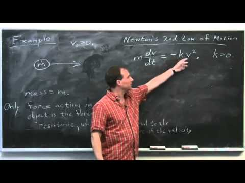 Applications of Differential Equations - Differential Calculus