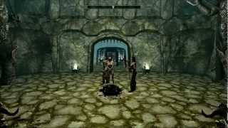 Elder Scroll Skyrim - Nude Female Slave Beheading [HD]