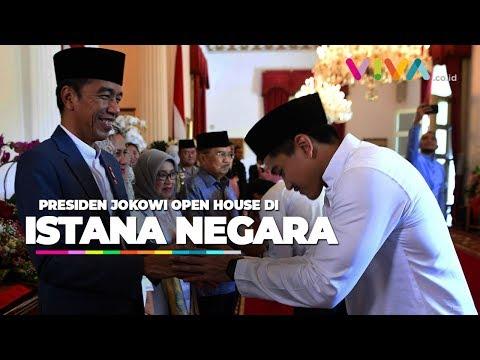 Jokowi Open House Di Istana, Kaesang Satu Meja Dengan AHY