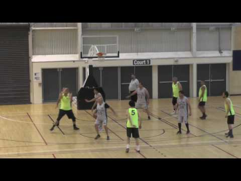 "Ethan Lehmann (white, #6), 6""3, SF, Class of 2017 (New Plymouth, New Zealand) 2017 Season Game 1"