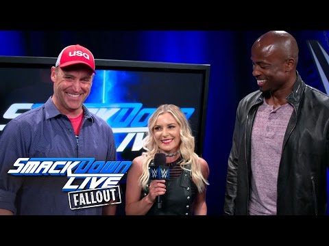 Team Ninja Warrior's hosts are excited to be at SmackDown LIVE: SmackDown LIVE Fallout, Apr 18, 2017