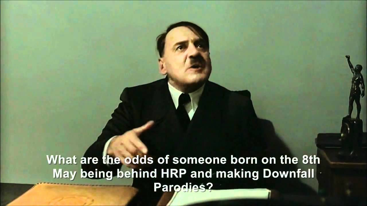 Hitler is informed hitlerrantsparodies was born on the 8th May 1986