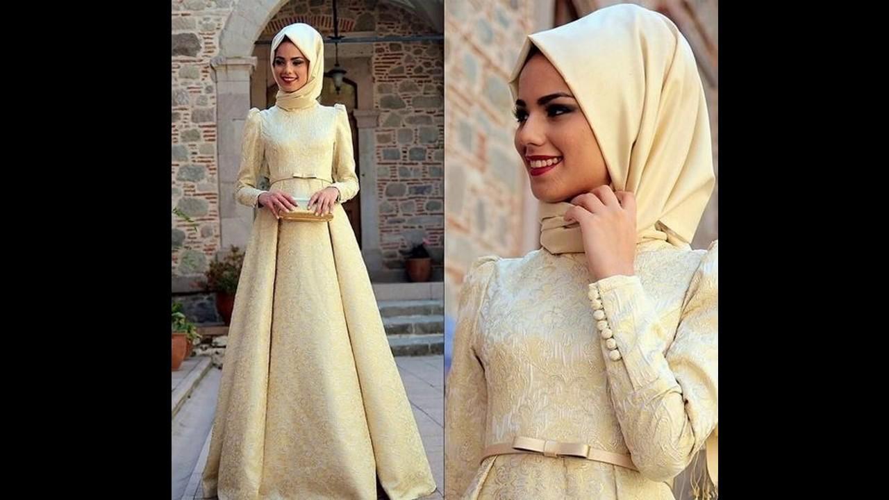 Model Baju muslim pesta brokat terbaru - YouTube