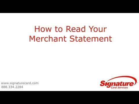 How to Read Your Merchant Statement