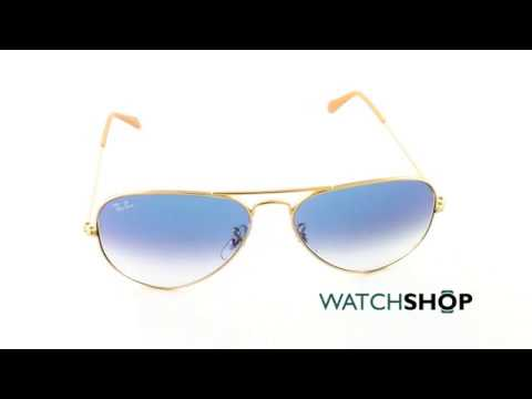 93fb25bed Ray-Ban Men's Aviator Gradient Sunglasses (RB3025-001/3F-58) - YouTube