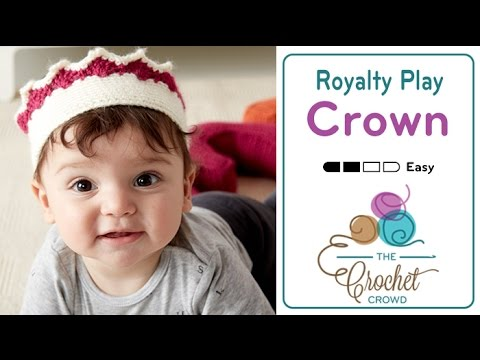 ec8ea825572 How to Crochet A Crown  Birthday   Play Crown - YouTube