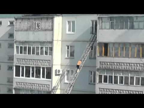 Пожар в Ульяновске. ул. Отрадная, 16-   06.04.11г.