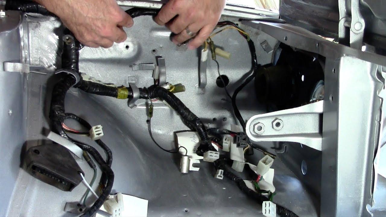 hight resolution of vlog 38 mazda rx3 engine bay wire loom install restoration