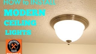 Modern Ceiling Lights (how to install) -- by Home Repair Tutor