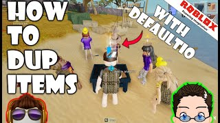 Roblox - Projoot - How To Duplicate Items w/ Defaultio :O [NICHT CLICKBAIT]