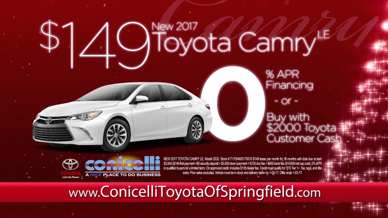 $149/month Camry U0026 $159/month RAV4 At Conicelli Toyota Of Springfield