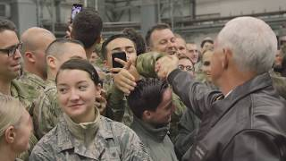 Vice President Pence Visits Ramstein Air Base