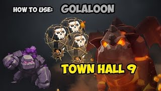 Clash of Clans - Golaloon 3 star Attack Strategy - Low Level Heroes 2018