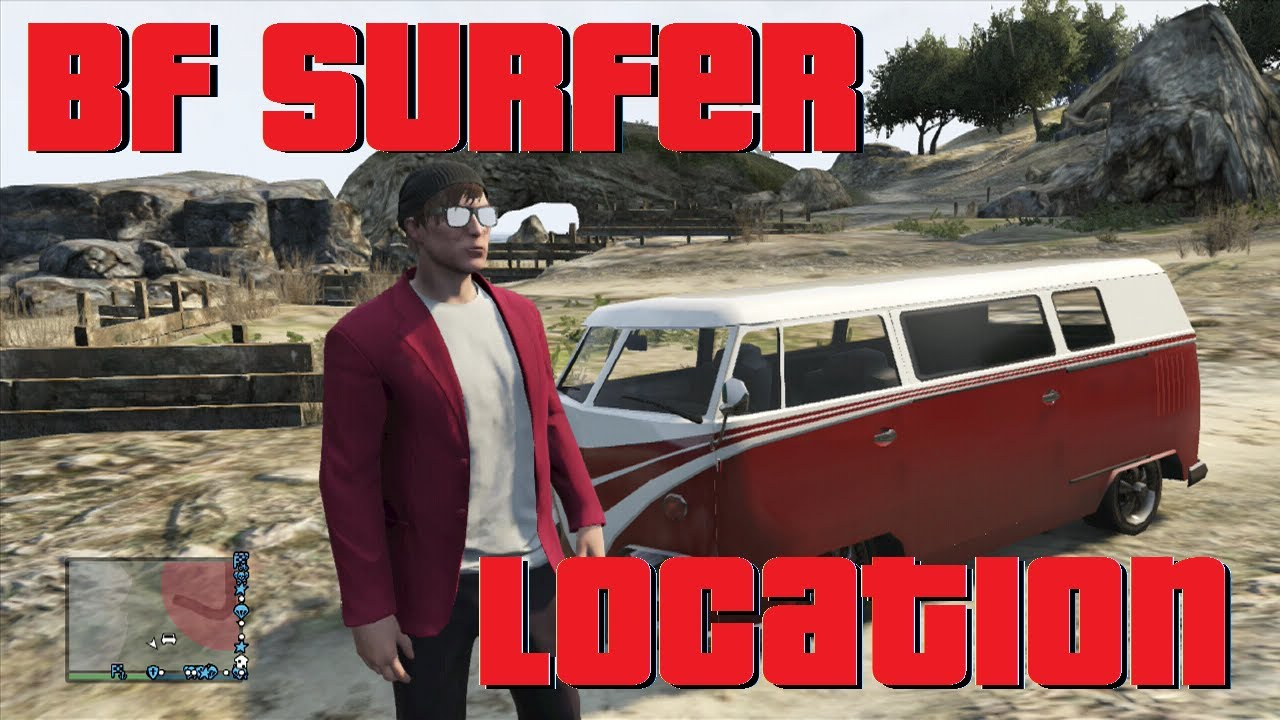 Clean VW Bus Location in GTA V Online (bf surfer) - YouTube