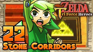 The Legend of Zelda: Tri Force Heroes - Part 22 - Stone Corridors