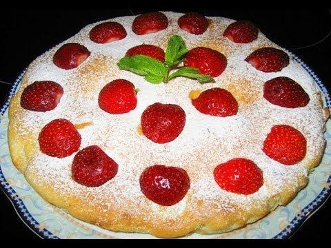 Самый вкусный песочный пирог с ягодами  с желе