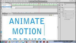 Tutorial Adobe Flash CS6 : Cara membuat animate Motion Graphics (Indonesia)