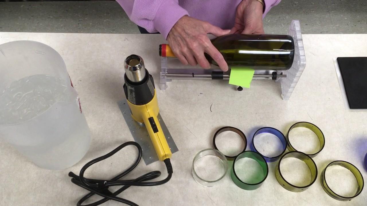 How to cut glass bottle rings creator 39 s bottle cutter for How do i cut glass bottles