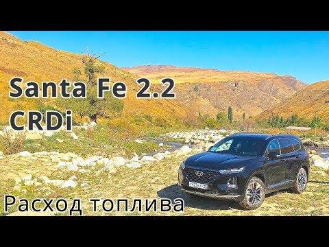 2018 Hyundai Santa Fe 2.2 CRDi, расход топлива 1 КлаксонТВ