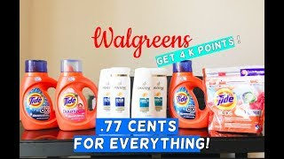 WALGREENS COUPON HAUL! I PAID .77 CENTS FOR EVERYTHING! NO PAPER COUPONS NEEDED ALL DIGITALS!
