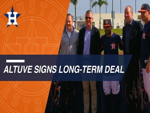 Jose Altuve, Houston Astros excited by new contract extension through 2024!